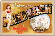 "Hard Rock Hotel Orlando 2014 Magnet ""Greetings From"" Post Card City Icons New"