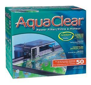 Aqua Clear 50 / 200 76-190L Hang On External AquaClear Aquarium Fish Tank Filter