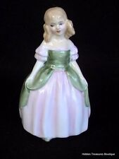 Royal Doulton Penny Hn2338 Young Girl Pink/Green Dress Figurine England