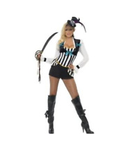 Ladies Pirate Princess Fancy Dress Costume Sexy Sailor Buccaneer Halloween