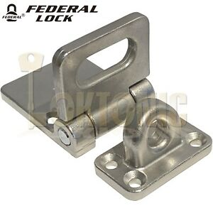 Federal FD702SS Heavy Duty Stainless Steel Van Shed Garage Hasp And Staple