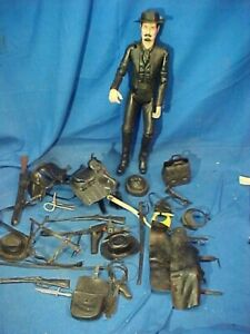 Orig 1960s MARX Johnny West SAM COBRA ACTION FIGURE w 24 ACCESSORIES