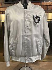 Vintage Sin City Las Vegas Oakland Raiders NFL Football Satin Jacket Mens Size M
