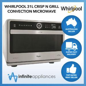 Whirlpool 31L 6th SENSE Crisp N' Grill Convection Microwave & Oven (JT479IX)
