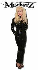 Misfitz gloss PVC hobble mistress dress 2 way zip sizes 8-32 Or made to measure