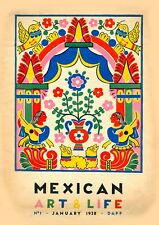 MEXICAN PRINT: 1930s Art and Life Culture Magazine Cover Poster