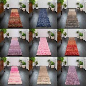 Shaggy Hallway Runner Rugs Soft Fluffy Warm Carpet Hall Mats Flecked Striped Rug