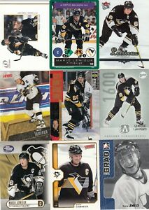 MARIO LEMIEUX a lot of 9 DIFFERENTS CARDS  near mint   LOT 17        a