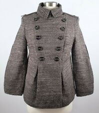 New sz 42 / US 6 Burberry Prorsum bark brown double breasted jacket coat
