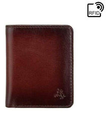 Visconti Atelier Mens Burnished Tan Real Leather Wallet Gift Boxed AT56