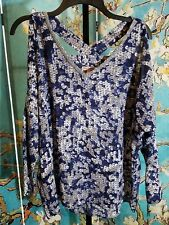 BRAND NEW Juicy Couture Cold Shoulder Embellished Top, Size Medium Retail $44.00