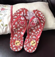 Coach pvc sandals size 7 color in red floral