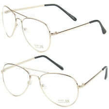Fashion Aviator Men Women Clear Len Eyeglasses Metal Frame Rose Gold Retro Pilot