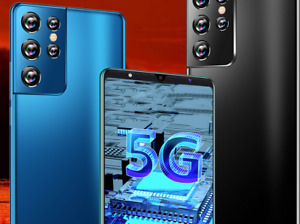 5G Smartphone Android 11 HD Screen Dual SIM 6.inch 12G + 512GB  - BLUE