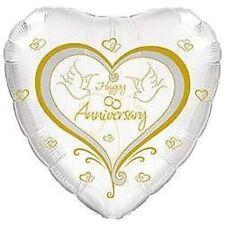 WEDDING ANNIVERSARY DECORATIONS HEART 45cm FOIL BALLOON