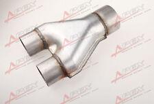 "Universal Custom Exhaust Y-Pipe 2.5"" Dual 2.5"" Single Aluminized Steel"