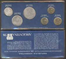 Argentina Soccer World Cup 1978 Set Complete x6 Coins 1977