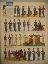 CORRIERE DEI PICCOLI N° 50 12/12/1965 CON FIGURINE ARTIGLIERIA 1848 - 1860 STR