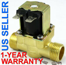 1/2 in 110V-120V AC Slim Brass Solenoid Valve NPS Gas Water Air Normally Closed