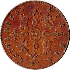 1855 Spain 4 Maravedis Coin Isabel II KM#530.1 Rare