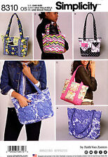 Simplicity Sewing Pattern 8310 Quilted Bags Handbags Purses Totes quilting