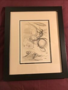 SALVADOR DALI *(NOT Signed )Etching (1960's) WITH CERTIFICATE OF AUTHENTICITY