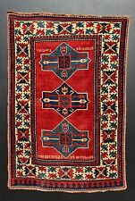 AN IMPORTANT ANTIQUE INSCRIBED ARMENIAN CAUCASIAN RUG CARPET -- A SHOWSTOPPER !!