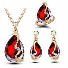 New Fashion Women Austrian Crystals Wedding Party Accessories Royal Jewelry Sets