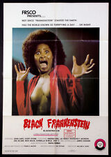 BLACK FRANKENSTEIN BLACKENSTEIN RARE BLAXPLOITATION HORROR 1973 1-SHEET
