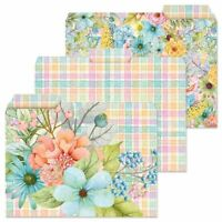 Colorful Garden Floral  File Folders Set of 12 3 Designs Documents Storage New