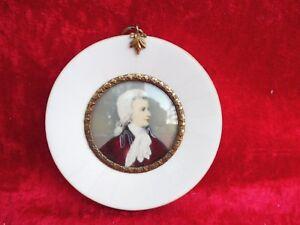 Belle, vieux Miniature __ Wolfgang Amadeus Mozart __ Peinture sur Loupes __
