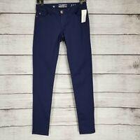 Celebrity Pink Jeans Juniors Sz 1 Low rise Skinny Slim Pants Stretch Purple NWT