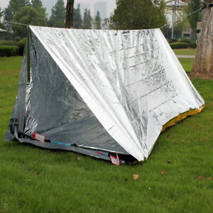 Outdoor Emergency Tent Waterproof Foil Thermal Tent Survival Shelter Camping