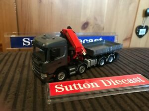 WSI 02-2576/ 04-2097 Scania G Normal 8x4 Palfinger Crane & Ballast Box 1/50