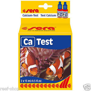 Sera Calcium CA Test Kit Two 15mL Dropper Bottles for Marine and Reef Aquariums