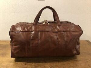 VINTAGE WILSON Sports Red/brown Gym Bag - Travel Duffle - Carry On Bag Very Nice
