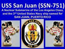 SUBMARINO USS SAN JUAN SSN751 LA Class & CRUCERO CL54 Capital PUERTO RICO