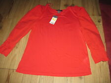 RED BLOUSE SIZE 14 NEW WITH TAG LONG SLEEVES CONTRASTING MATERIAL PRIMARK