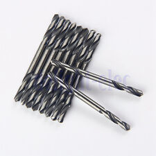 "10X 1/8"" 3.2MM Diam Hss Double Ended Stub Metal Drill Bits End Stell Tools  DH"