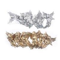 6pcs Gold Silber Engel Anhänger Weihnachtsbaum hängende Ornamente W6D3