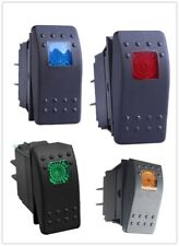 NUEVO IMPERMEABLE MARINO Barco Coche Rocker Switch 12 V SPST On-Off 4PIN LED 4 Colores