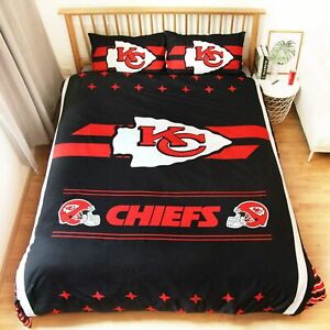 Kansas City Chiefs 3PCS Bedding Set Duvet Cover Pillowcase Comforter Cover Set