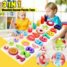 Wooden Numbers&Fruit Jigsaw Puzzle Toy Kit Kid Educational Toy For 0-3 Years Old