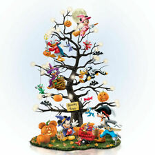 Bradford Exchange Disney Halloween TRICK OR TREAT TREE NEW Mickey Mouse Pumpkins