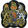 ROYAL COAT OF ARMS Embroidered Iron-ON /Sew-On Patch Clothes Jacket Shirt Badge