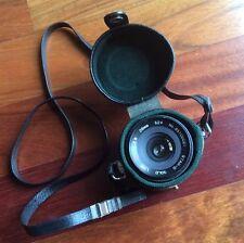 Fujica Mount Star-D Gold Line MC 28mm F2.8 Camera Lens & Black Case Zoom Japan