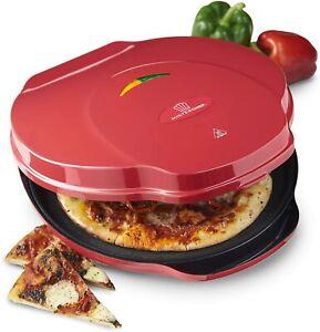 "MisterChef® Express Pizza Maker Oven Fast Italian Pizza Compact Metal 12"" 1000W"