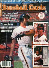 1988 Baseball Cards Magazine: Will Clark - San Francisco Giants