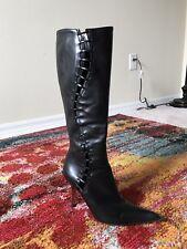 GIUSEPPE ZANOTTI VICINI Black Knee High Boots 7.5  Mint!