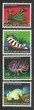 PAPUA NEW GUINEA 1978 SEA SLUGS 4 Values MNH